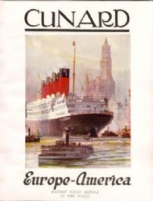 Vintage shipping poster - Cunard 1926